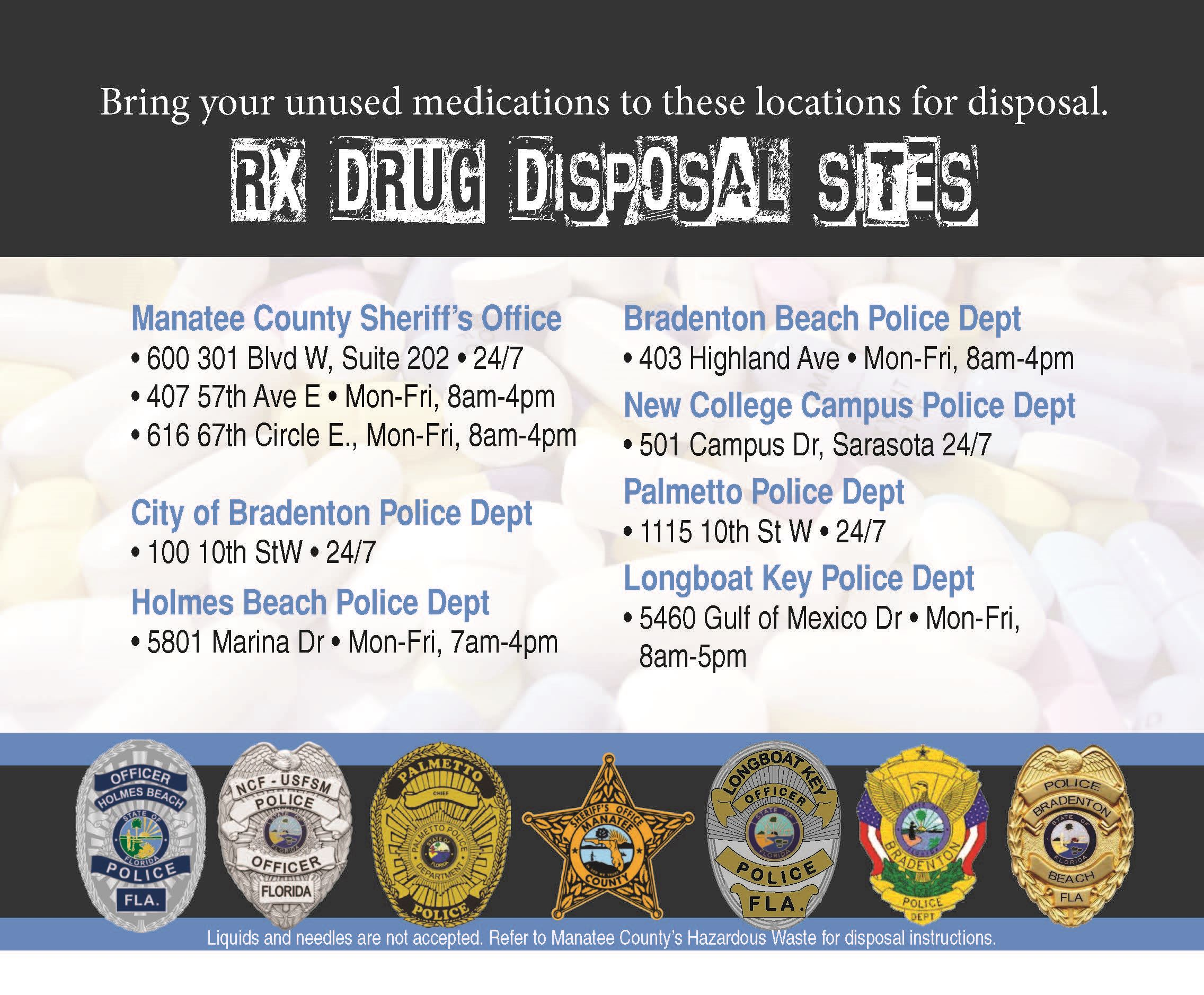 operation rx poster listing rx disposal locations